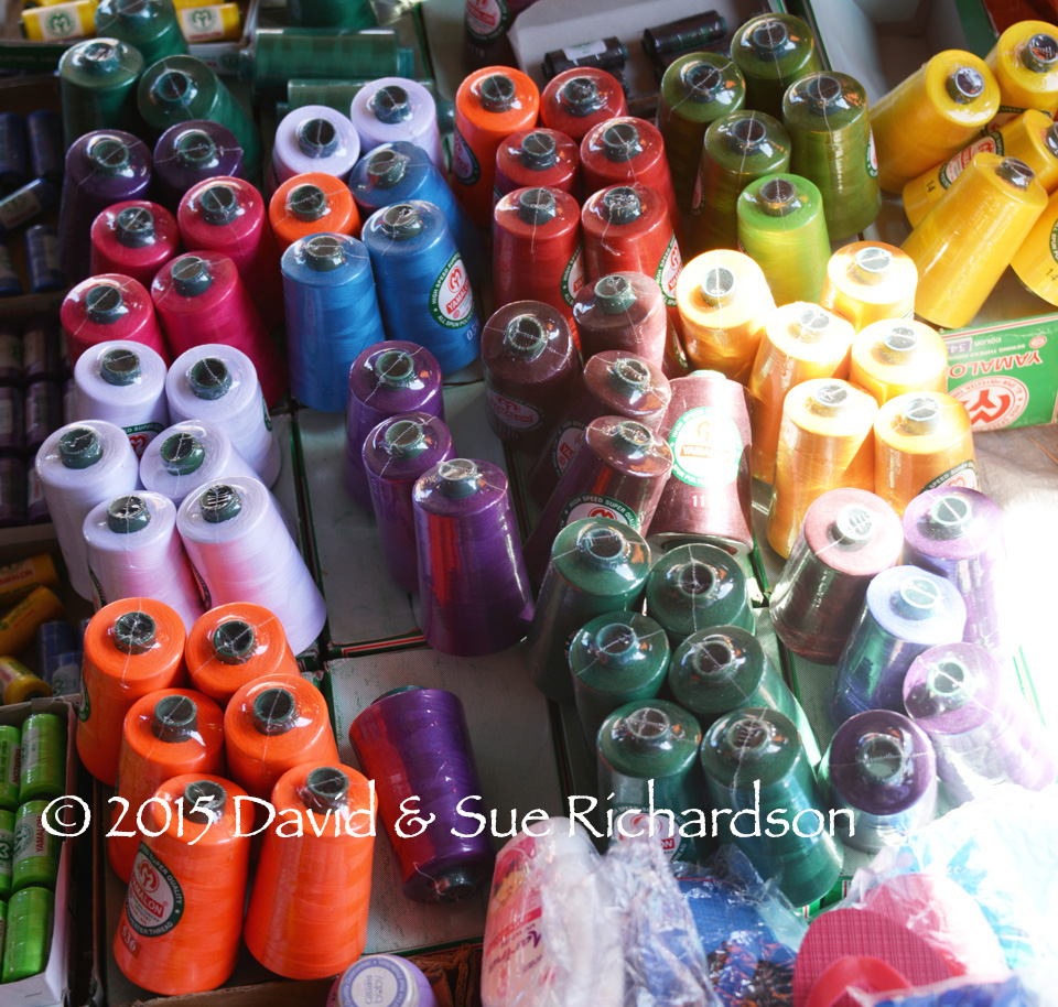 Description: Pre-dyed polyester yarn