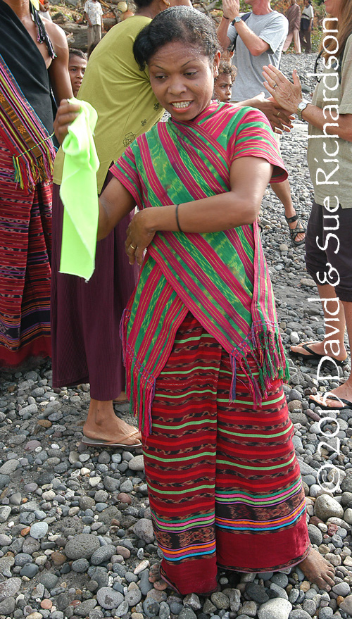 Description: Woman on Pantar