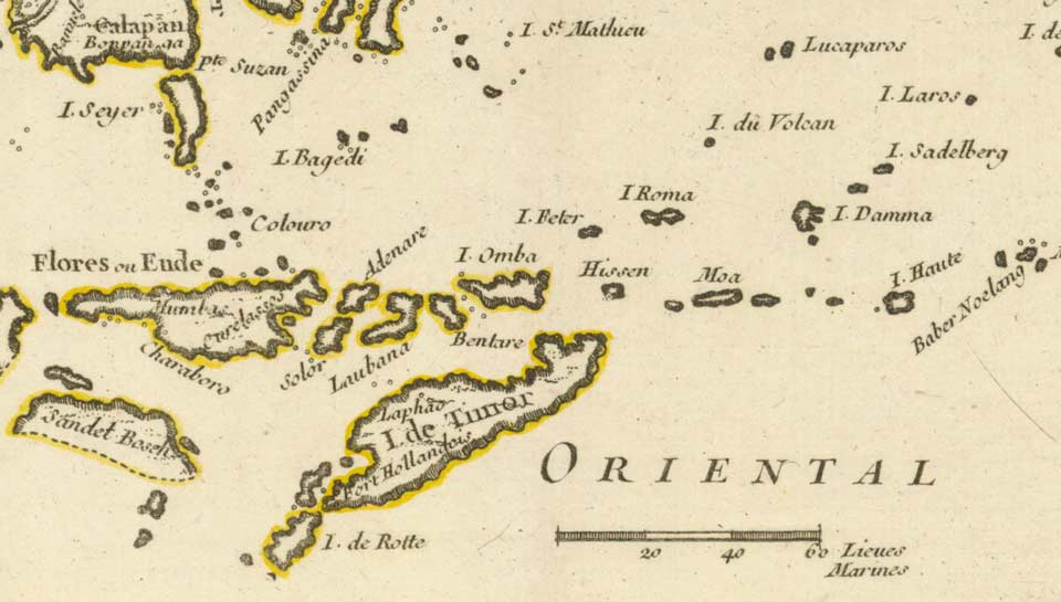 Description: Map of the Isles Moluques, 1748