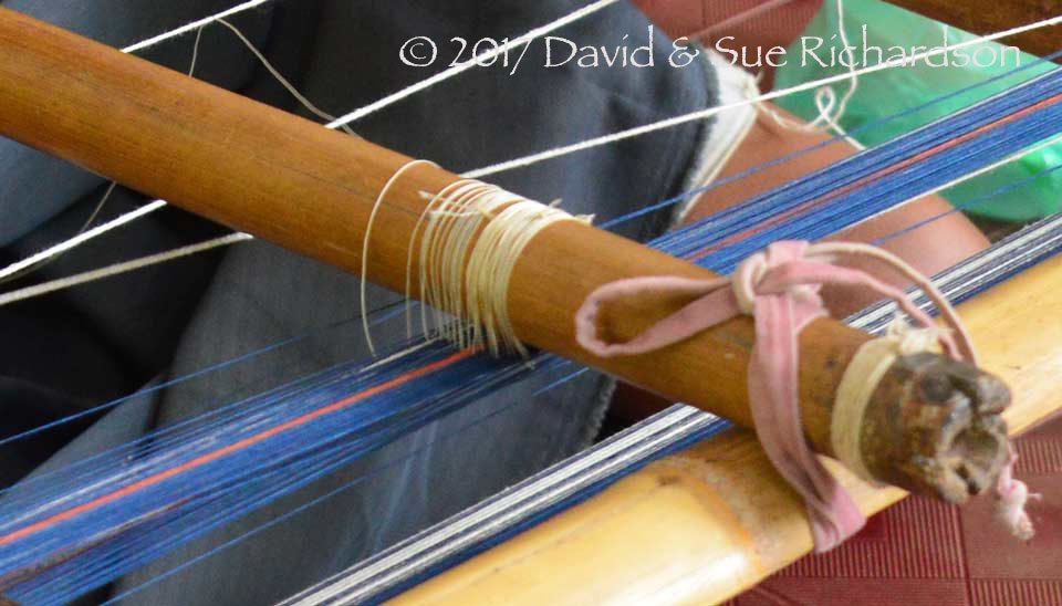 Description: The beginning of the nylon heddle